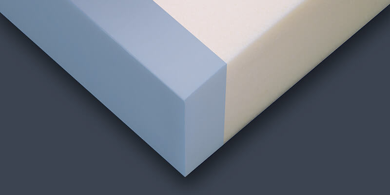 Closeup of memory foam layers