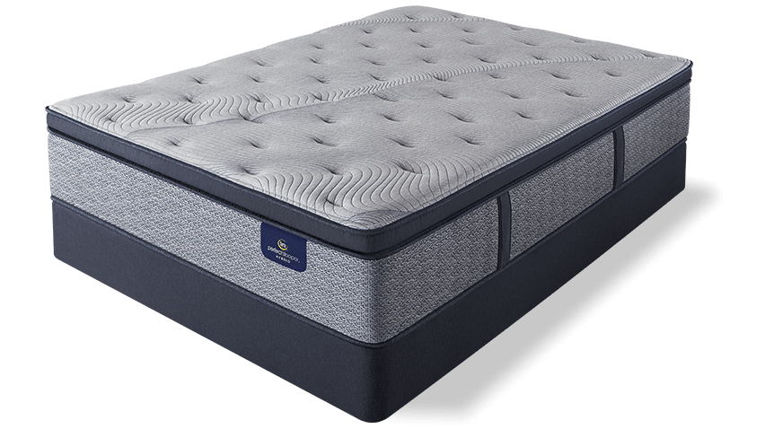 perfect sleeper hybrid mattress on standard foundation